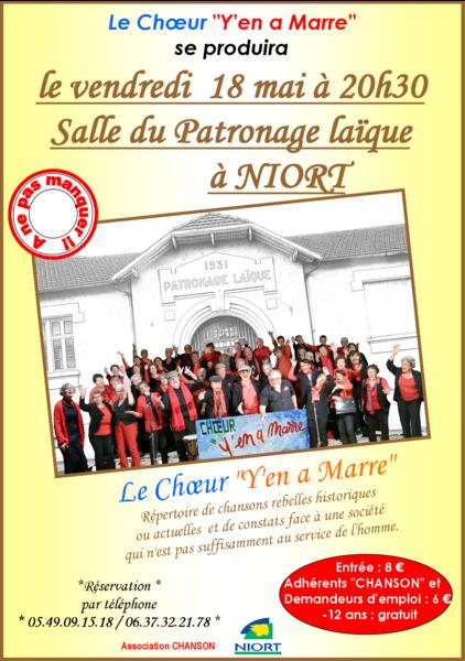 """Concert du choeur """"Y en a Marre"""""""