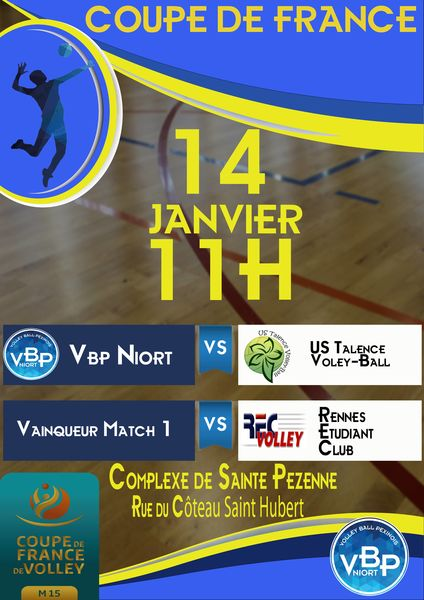 Volley Ball : Coupe de France M15 masculin