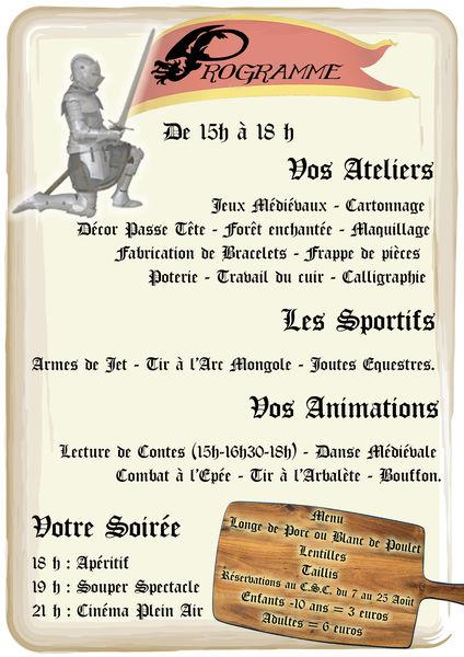 Fête médiévale à Champclairot