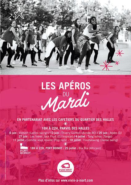 Apéros du Mardi : soirée DJ tropical Les Frères Jacques Fruit & Au Bon Cru