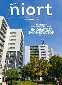 couverture Magazine vivre à niort : Numéro de novembre 2020