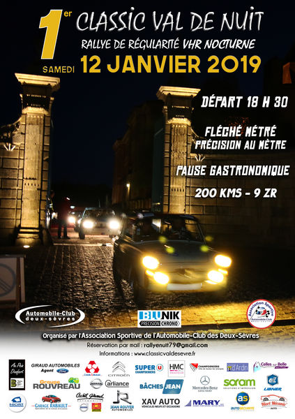 1er Rallye Classic Val de Nuit
