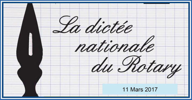 La dictée nationale du Rotary