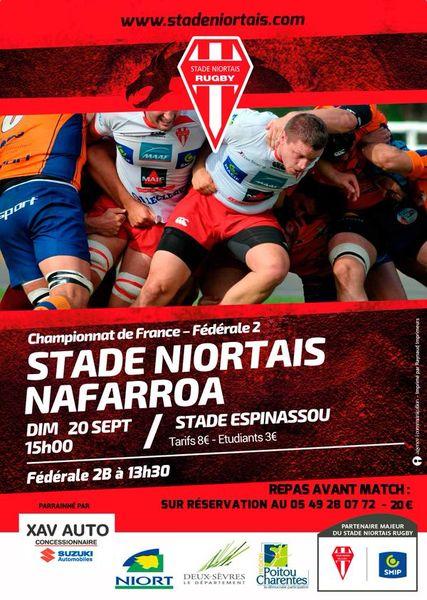 Rugby : Stade Niortais - Nafarroa