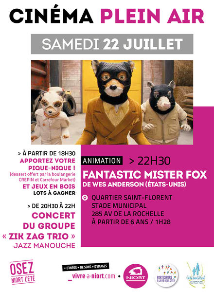 Ciné en plein air : Fantastic Mister Fox