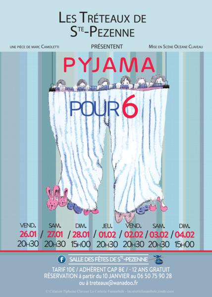 Théâtre : Pyjama pour 6