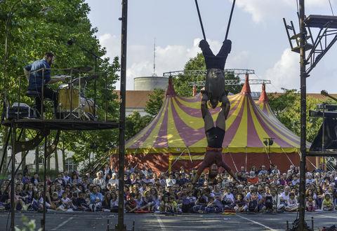 Festival Cirque d'été CIE Avis de tempête spectacle Comme un vertige
