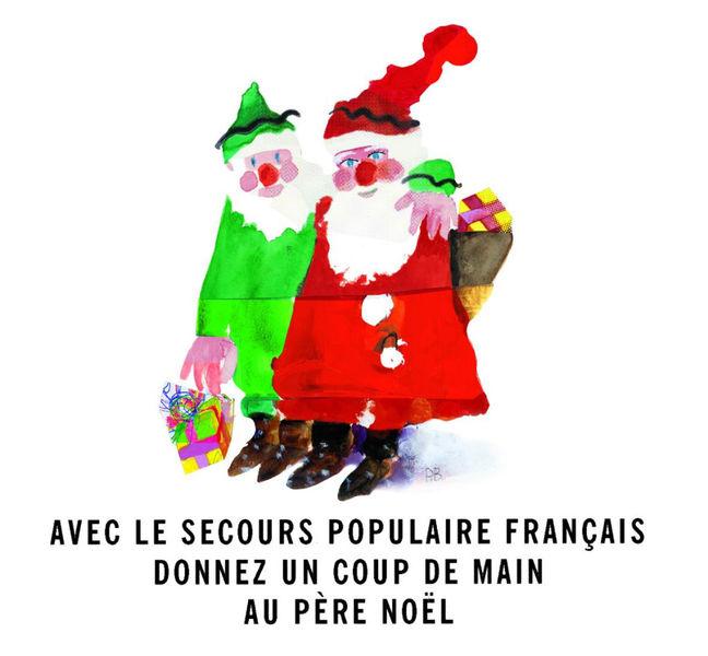 Déambulation de Noël : Sam'Bat La Rue et les Pères Noël verts