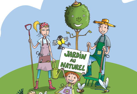 "Illustration article : Adoptez la charte ""Jardin au naturel"""