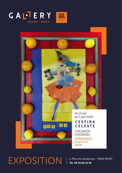 """Exposition """"Collages et cousages"""" de Cestina Celeste"""