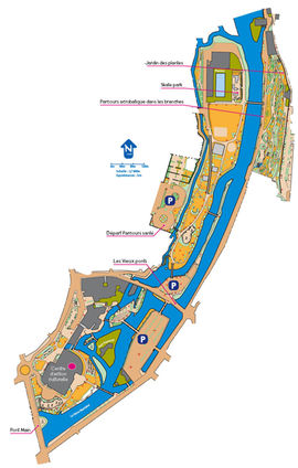 Plan du parcours d'orientation