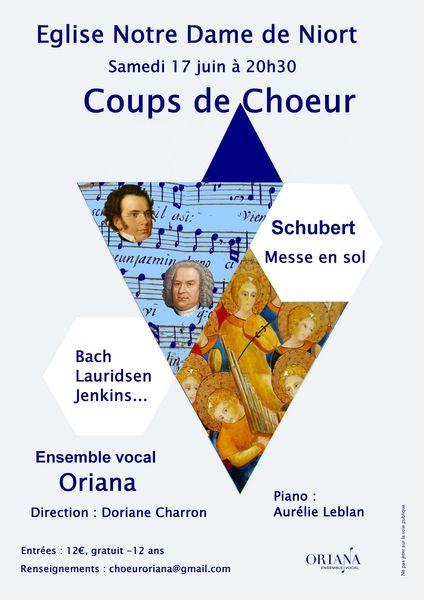 Coups de choeur par l'ensemble vocal Oriana