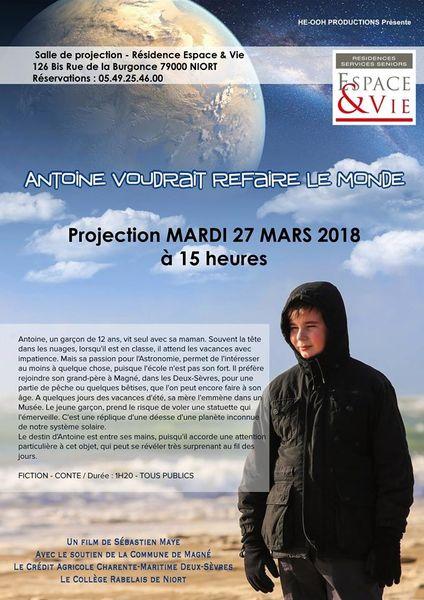 Projection : Antoine voudrait refaire le monde