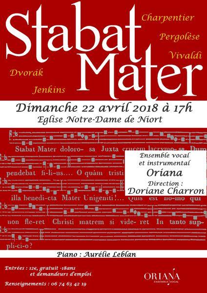 Concert : Stabat Mater par l'ensemble vocal Oriana