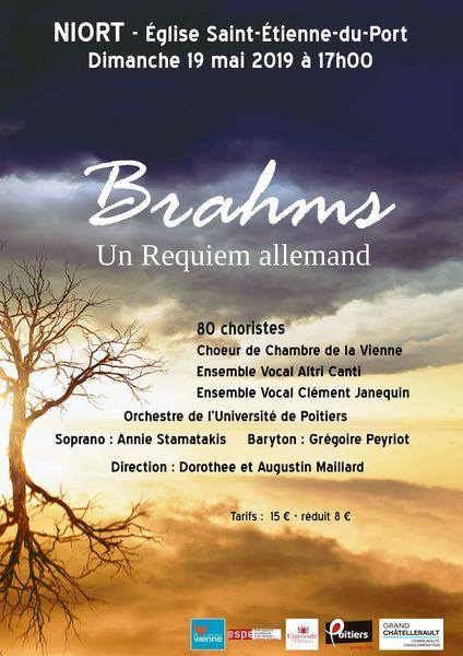 """Concert : Brahms, """"Un Requiem allemand"""" pour grand choeur et orchestre"""