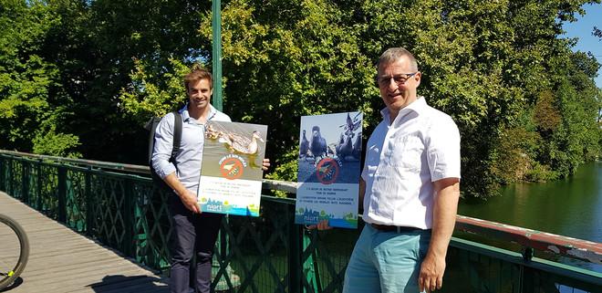 Thibault Hébrard, adjoint au maire en charge notamment du développement durable, de l'environnement, de la santé et Philippe Terrassin adjoint au maire, en charge des quartiers et de la vie participative.