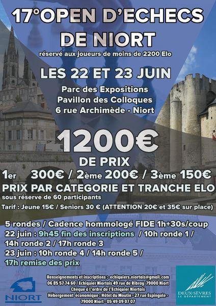 17e OPEN d'échecs de Niort