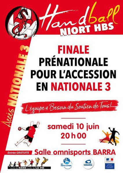 Handball : Niort HBS contre Biard HC