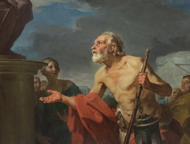 L'art au menu : Diogène demandant l'aumône aux statues