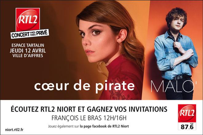 Concert RTL2 : Cœur de pirate + Malo'