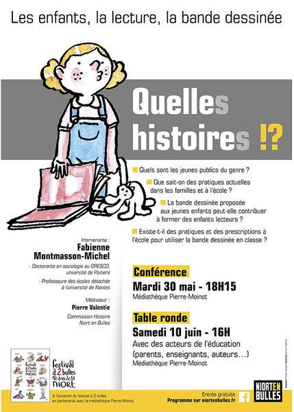 Conférence : Les enfants, la lecture, la BD, quelle(s) histoire(s) !?