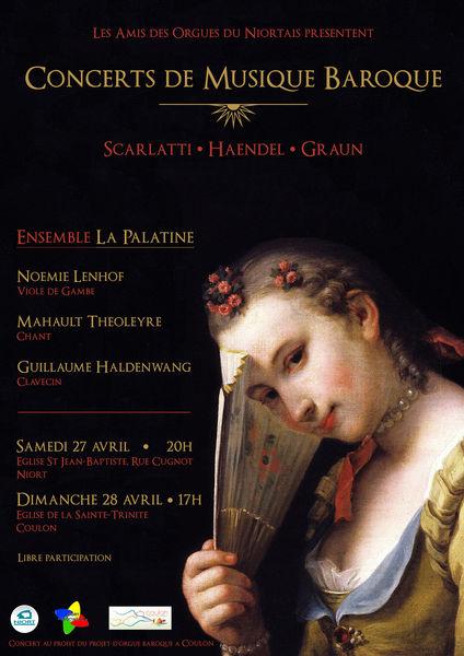 Concert de musique baroque de l'Ensemble La Palatine