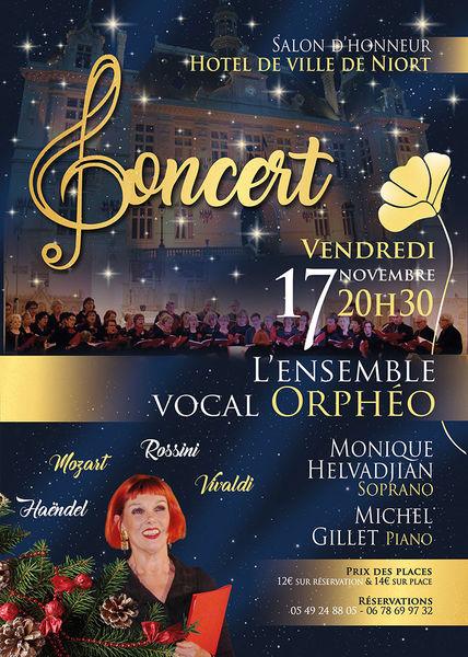 Concert : L'ensemble vocal Orphéo à l'Hôtel de Ville