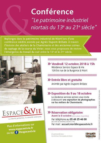 Conférence : Le patrimoine industriel niortais du 13e au 21e siècle