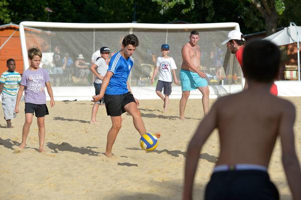 Beach soccer à Niort Plage