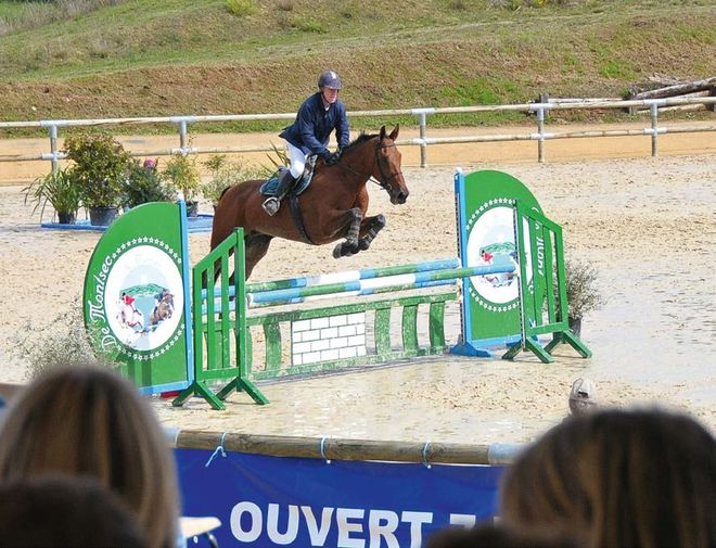 Equitation : course de saut d'obstacles