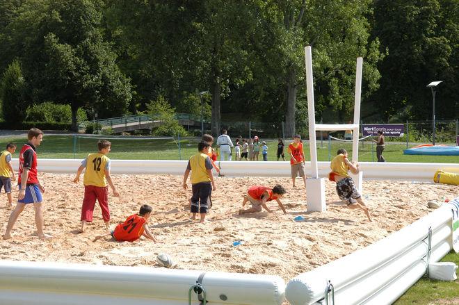 Niort Plage : Beach rugby