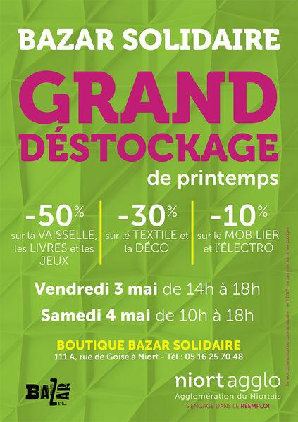 Grand déstockage de printemps à la boutique Bazar Solidaire