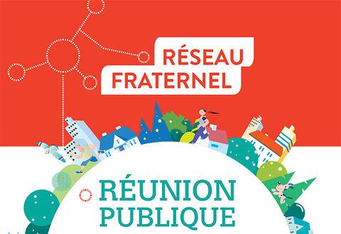 Affiche réseau fraternel du quartier Champclairot-Champommier