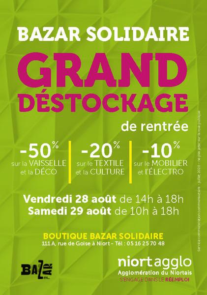 Grand déstockage à la boutique Bazar Solidaire
