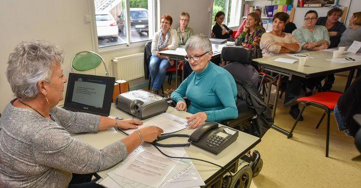 Les agents se forment à l'accueil des personnes en situation de handicap