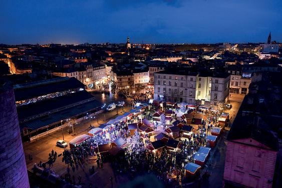 Marchés et animations de Noël dans le centre ville de Niort