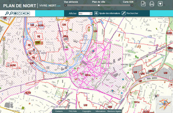 Cartographie interactive du plan local d'urbanisme de Niort