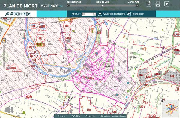 Cartographie interactive du plan local d'urbanisme de Niort