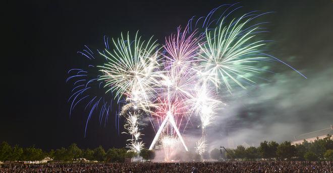 Soirée du 14 juillet feu d'artifice et bal