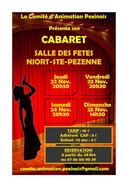 Théâtre : Cabaret de Ste-Pezenne
