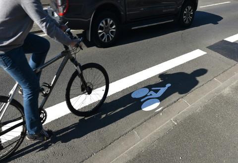 Illustration article : De nouveaux aménagements cyclables expérimentés sur l'axe Gare-Port Boinot