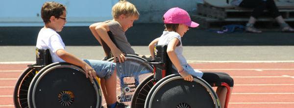Journée de sensibilisation au handicap, 2012 stade René Gaillard. Crédit : Bruno Derbord