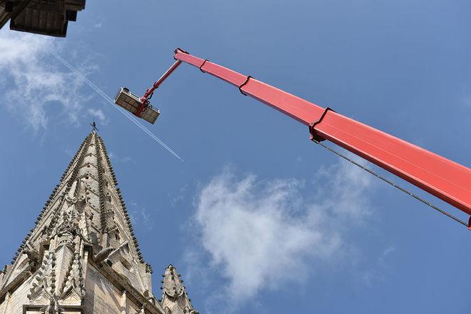 Diagnostic avant les travaux de restauration de l'église Notre-Dame ©Bruno Derbord