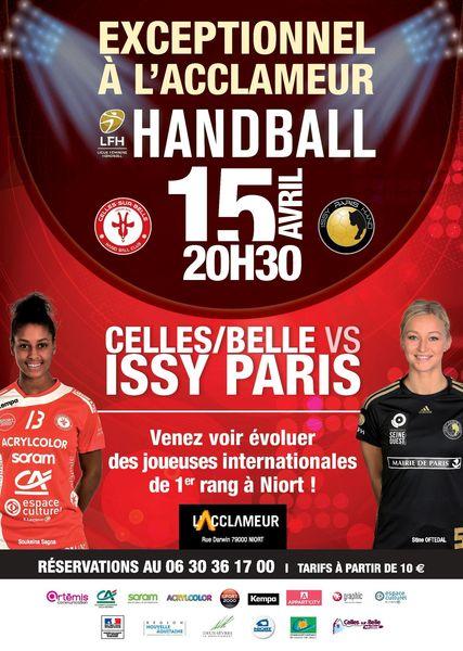 Handball : Celles/Belle VS Issy Paris