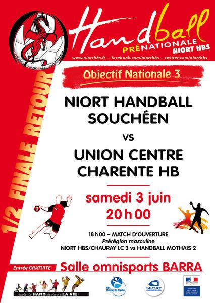Handball : Niort HBS contre UC Charente HB