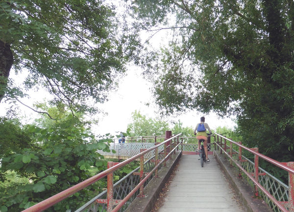 A proximité de l'écluse de Comporté, rive gauche, passerelle au-dessus de la Sèvre ©Sylvie Méaille