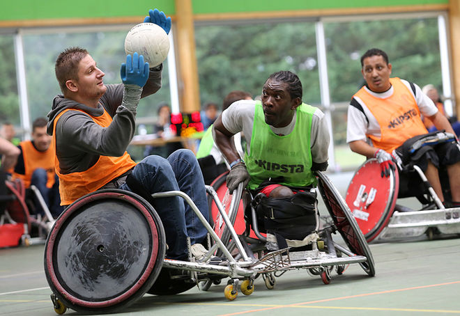 QUAD RUGBY - Rencontre Rugby Fauteuil Stade Niortais