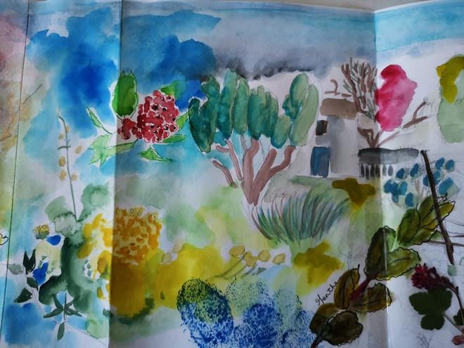 Sortie dessin et aquarelle à la Roussille