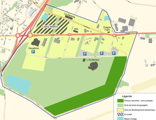 Plan de la ZAC terre de sport