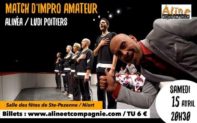Théâtre d'impro - Match amateur Alinéa / Poitiers